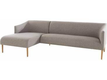 andas Polsterecke »Finesse« in skandinavischem Design mit attraktiver Formensprache, grau, Recamiere links, grau