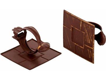 Good Life Dekoklammer »Quadrat«, Vorhänge, (1-tlg), für Stoffe und Vorhänge, braun, braun