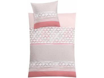 Kleine Wolke Bettwäsche »Sueno«, mit Muster, rosa, 1x 135x200 cm, Mako-Satin, rosa