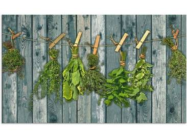 Artland Küchenrückwände »Team 5: Kräuter mit Holzoptik«, grün, 65x110 cm, Grün