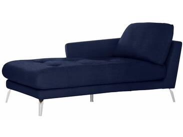 W.SCHILLIG Chaiselongue »softy« mit Heftung im Sitz, blau, Armlehne links, navy