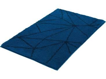 Kleine Wolke Badematte »Nizza« , Höhe 20 mm, rutschhemmend beschichtet, fußbodenheizungsgeeignet, blau, 20 mm, pazifik
