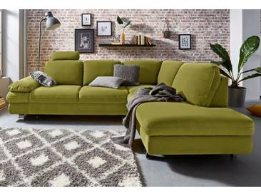TRENDMANUFAKTUR Ecksofa, grün, 260 cm, Ottomane rechts, grün