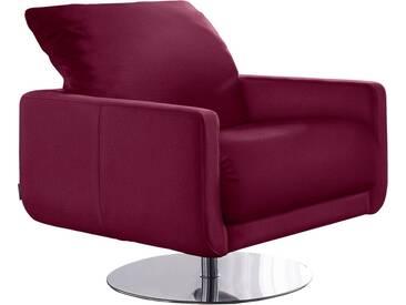 W.SCHILLIG Armlehnen-Sessel »mademoiselle« mit Kopfstützenverstellung und Drehteller, rot, winered