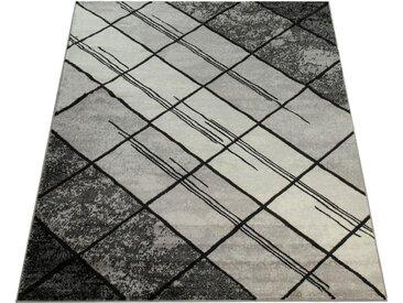 Paco Home Teppich »Sinai 071«, rechteckig, Höhe 13 mm, moderner Kurzflor mit Rauten Muster, grau, grau