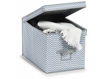 Zeller Present Aufbewahrungsbox, weiß, 48x31,5x30 cm, weiß-grau
