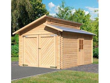 Karibu KARIBU Einzel-Garage »Kalle«, BxT: 360x489 cm, Einfahrtshöhe: 193 cm, natur, natur