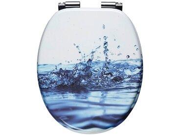 WC-Sitz »Wassertropfen«, Mit Absenkautomatik, blau, blau