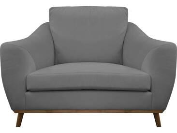 DELAVITA Delavita Sessel »Sarah« in skandinavischem Design mit Holzbeinen, grau, dunkelgrau