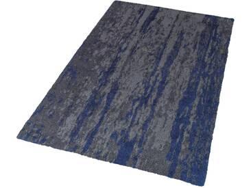 SCHÖNER WOHNEN-KOLLEKTION Hochflor-Teppich »Impression«, rechteckig, Höhe 25 mm, Besonders weich durch Microfaser, grau, 25 mm, grau-blau
