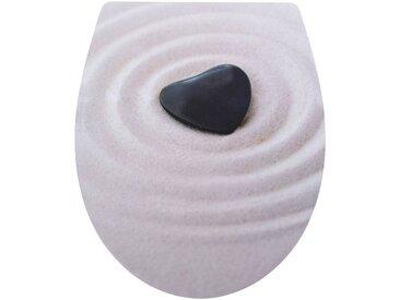 CORNAT WC-Sitz »Sand Herz«, Relief-Motiv, beige/schwarz