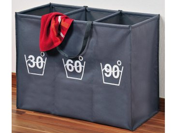 KESPER for kitchen & home Wäschesortierer (1 Stück), grau, 75x35x60 cm, grau