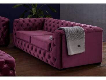 Guido Maria Kretschmer Home&Living 2-Sitzer »Kalina«, mit klassischer Chesterfield-Knopfheftung, lila, 190 cm, aubergine
