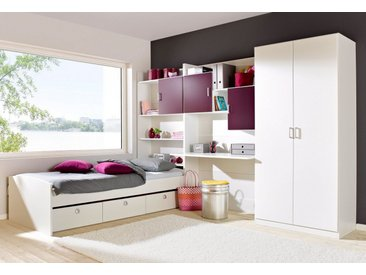 rauch Jugendzimmer-Set »Flow«, lila, 2-türig ohne Spiegel, weiß/brombeer