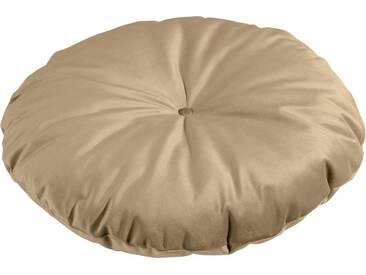 Max Winzer® Bodenkissen unifarben, in 2 Größen, natur, ø 85 cm, sand