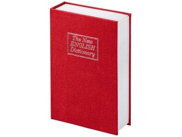 Hama Buchtresor mit Schlüssel, Buch Safe Wörterbuch Design »Buchattrappe mit Geheimfach«, rot, Rot