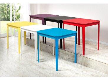 Home affaire Esstisch »Colour«, der Marke , aus teilmassiven Kiefernholz, in schönen, bunten unterschiedlichen Farben, schwarz, Tischplatte: MDF