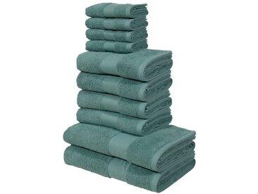 my home Handtuch Set »Ally« (Set, 10-tlg), in dezenten Unifarben, grün, grün