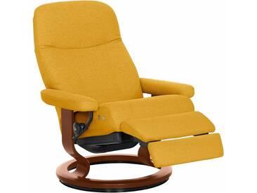 Stressless® Relaxsessel »Garda« mit Classic Base und LegComfort™, Größe L, mit Schlaffunktion, gelb, Fuß braun, yellow