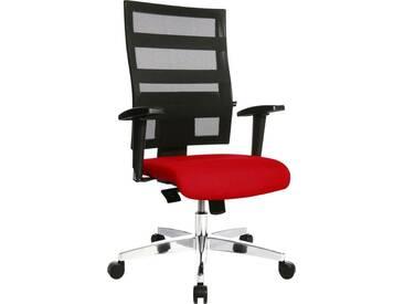 TOPSTAR Bürostuhl »X-Pander«, schwarz, schwarz/rot