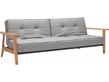 INNOVATION™ Schlafsofa »Splitback Frej«, mit Armlehnen, in skandinavischem Design, grau, grey