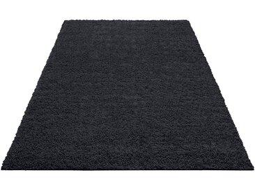 Home affaire Hochflor-Teppich »Shaggy 30«, rechteckig, Höhe 30 mm, schwarz, 30 mm, schwarz
