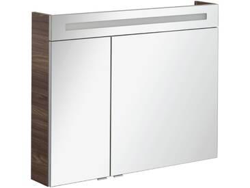 FACKELMANN Spiegelschrank »CL 90 - Ulme-Madera«, Breite 90 cm, 2 Türen, silberfarben, silberfarben