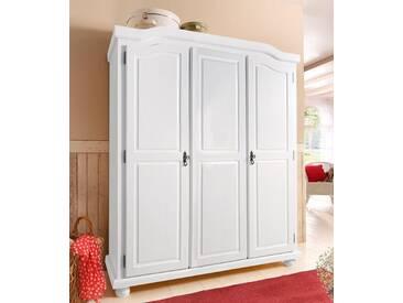 Home affaire Kleiderschrank, weiß, 3-türig, Breite 150 cm, mit Aufbauservice, mit Aufbauservice, weiß