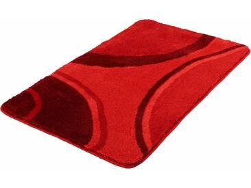 Kleine Wolke Badematte »Verona« , Höhe 20 mm, rutschhemmend beschichtet, fußbodenheizungsgeeignet, rot, 20 mm, rubin