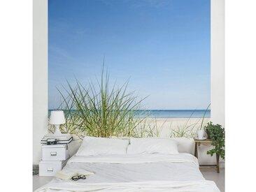 Bilderwelten Vliestapete Quadrat »Ostseeküste«, blau, 336x336 cm, Blau