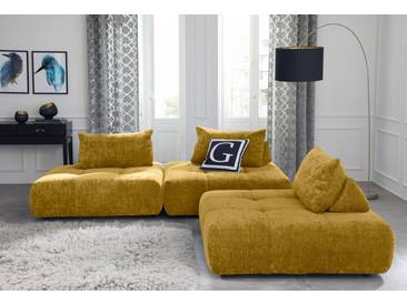 Guido Maria Kretschmer Home&Living GMK Home & Living Polsterecke »Eidum«, variabel, gleichschenklig, inklusive Kissen, gelb, Gleichschenklig, curry