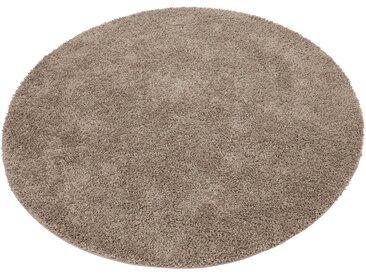 Home affaire Hochflor-Teppich »Shaggy 30«, rund, Höhe 30 mm, braun, caramel