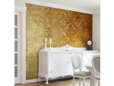Bilderwelten Vliestapete Premium Quadrat »The 7 Virtues«, goldfarben, 192x192 cm, Gold