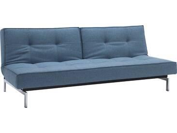INNOVATION™ Schlafsofa »Splitback« mit chromglänzenden Beinen, in skandinavischen Design, blau, lightblue