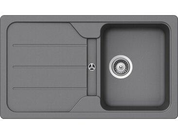 Schock SCHOCK Granitspüle »Formhaus«, ohne Restbecken, 86 x 50 cm, grau, ohne Restebecken, grau