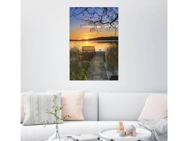 Posterlounge Wandbild - Dennis Siebert »Morgentliche Ruhe«, bunt, Leinwandbild, 80 x 120 cm, bunt