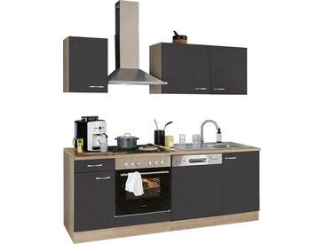 OPTIFIT Küchenzeile »Parare«, ohne E-Geräte, Breite 210 cm, grau, anthrazit