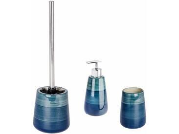 WENKO Bad-Accessoires Set »Pottery«, grün, petrol
