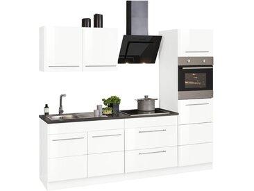 HELD MÖBEL Küchenzeile »Trient«, ohne E-Geräte, Breite 240 cm, weiß, weiß Hochglanz