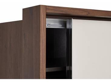 nolte® Möbel nolte® Passepartout für den 2-türigen Kleiderschrank »Marcato 1C« mit integrierter Beleuchtung, nussbaum
