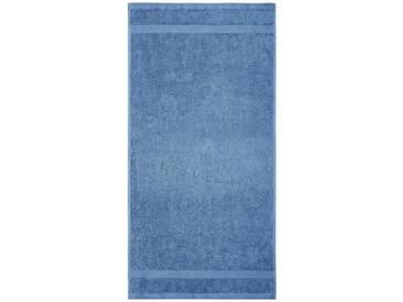 Dyckhoff Saunatuch »Planet«, aus reiner Bio-Baumwolle, blau, Walkfrottee, rauchblau