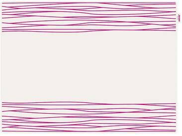 Contento Platzset »Jay - Streifen« (Set), rosa, Silikon, weiß-pink