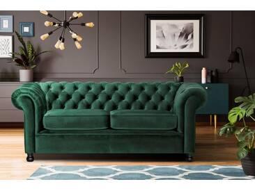 Home affaire 3-Sitzer »Chesterfield Home«, mit edler Knopfheftung und typischen Armlehnen, grün, 192 cm, dunkelgrün