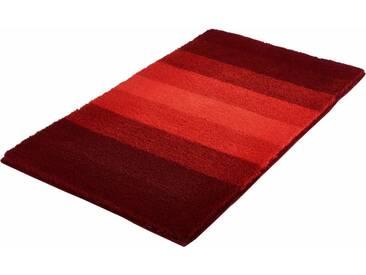 MEUSCH Badematte »Palace« , Höhe 23 mm, rutschhemmend beschichtet, fußbodenheizungsgeeignet, rot, 23 mm, weinrot