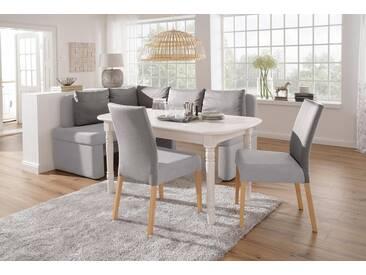 Home affaire Eckbank »Nin«, in verschiedenen Farben und Qualitäten, grau, Klein: langer Schenkel rechts, Kombination 3 (Feinstruktur und Grobstruktur)