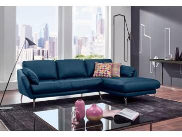 W.SCHILLIG Polsterecke »softy« mit Heftung im Sitz, blau, Recamiere rechts, blue