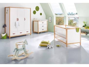Pinolino® Pinolino Babyzimmer-Set (3-tlg.), Kinderzimmer, »Calimero, breit groß«, weiß, weiß
