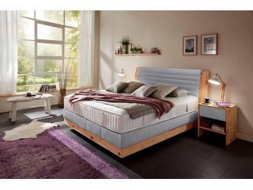 ADA premium Boxspringbett »Chalet«, Grand Comfort TF 1000 PM, grau, 7-Zonen-Tonnentaschenfederkern-Partnermatratze H2/H3, hellgrau RLN 59