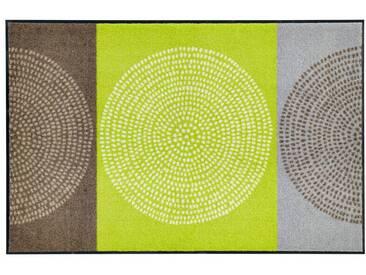 Salonloewe SALONLOEWE Fußmatte , waschbar, grün, grün/braun