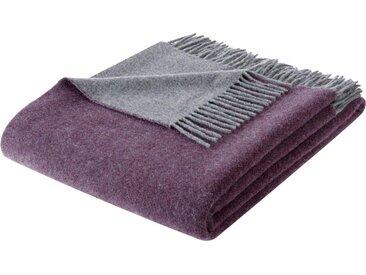 BIEDERLACK Wolldecke »Soft Impression«, mit Fransen, lila, purpur-graphit